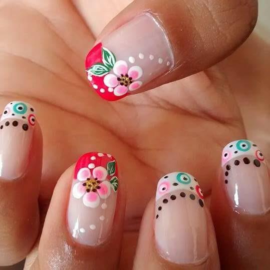 U as decoradas con flores hermosos dise os y modelos 72 - Decorados de unas ...