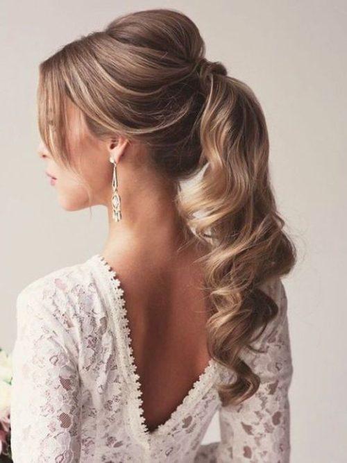 Resultado de imagen para peinados de novia cola de caballo