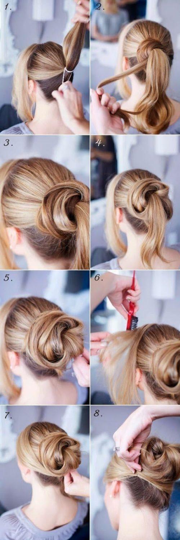 Peinados Sencillos Para Cabello Corto Paso A Paso Peinados - Recogidos-sencillos-paso-a-paso