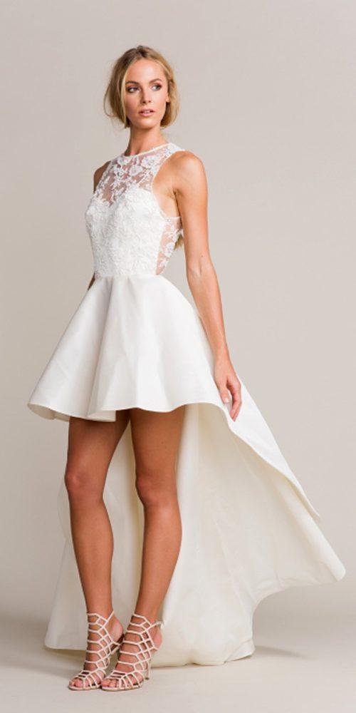95 imágenes de vestidos de novia cortos, largos y modernos