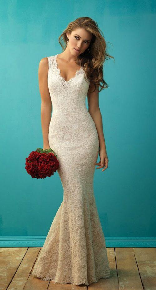 Vestidos de novias largos y sencillos