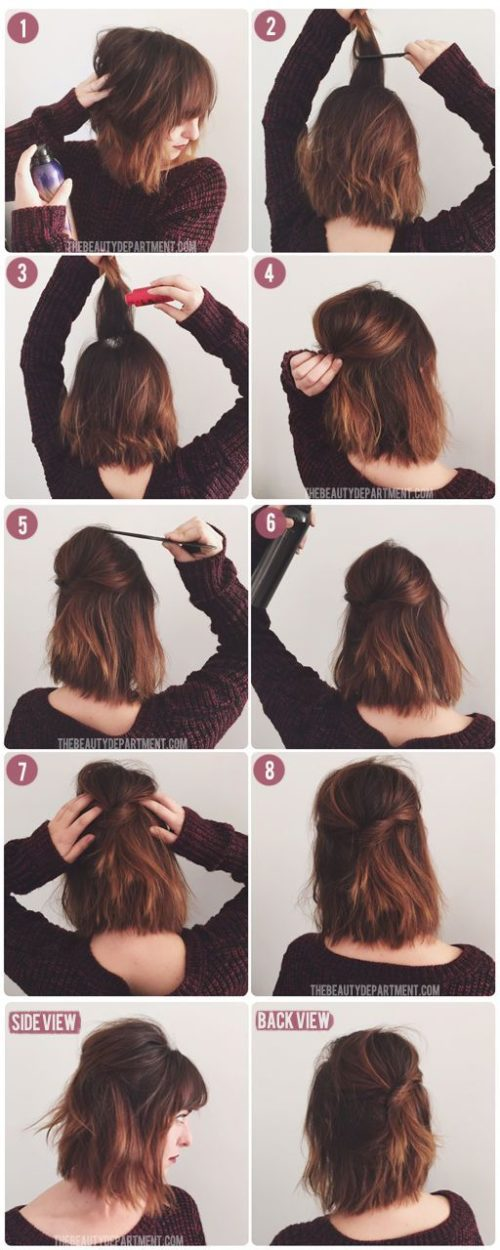 Peinados Faciles Y Rapidos Para La Escuela El Trabajo Y La Oficina