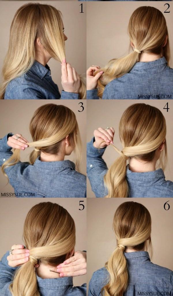 Ideas bonitas para peinados fáciles Fotos de cortes de pelo Ideas - Peinados fáciles y rápidos para la escuela, el trabajo y ...