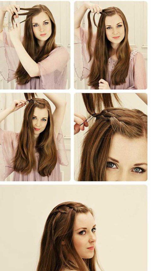 Clásico y sencillo peinados para trabajar Colección de estilo de color de pelo - Peinados fáciles y rápidos para la escuela, el trabajo y ...