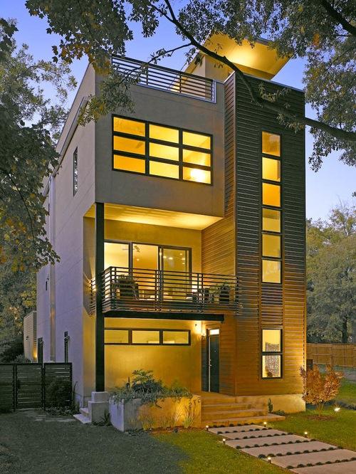 Fachadas para casas de tres pisos modernas 48 im genes for Casa minimalista de 6 x 20