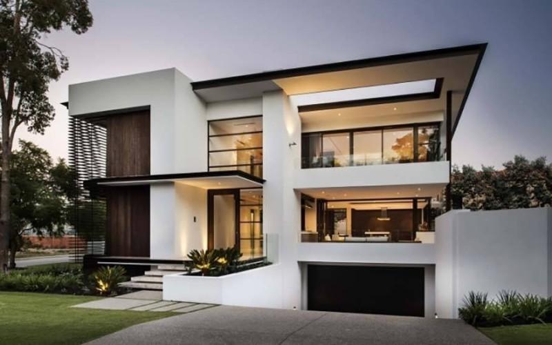 Fachadas para casas de tres pisos modernas 48 im genes for Pisos elegantes para casas