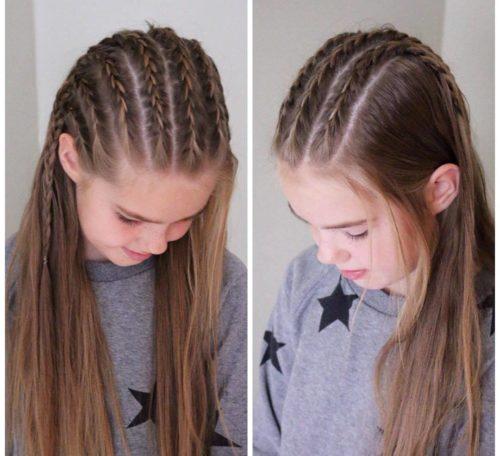 trenzas en la parte de arriba de la cabeza - Peinados Con Trenzas