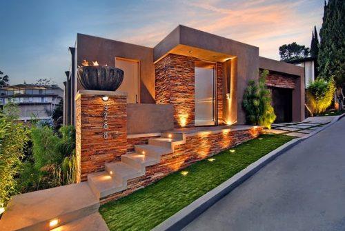 Fachadas de casas modernas con piedra fabulous losas de for Fachadas de casas modernas con piedra