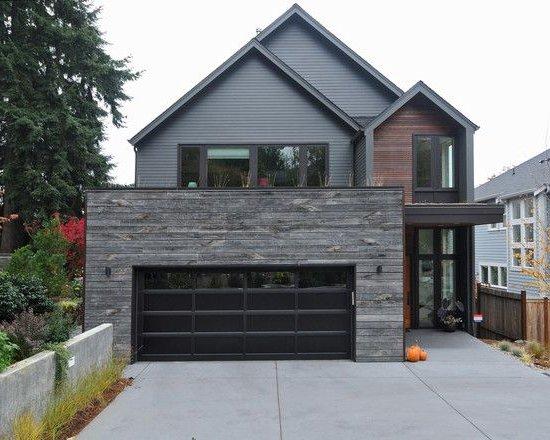 100 fachadas de casas con piedra modernas y minimalistas for Casas con piedras en la fachada
