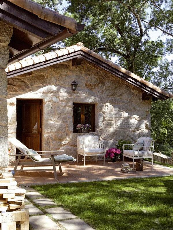 100 fachadas de casas con piedra modernas y minimalistas - Fachadas de casas con piedra ...