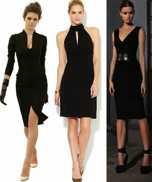 Vestidos negros con una sola manga
