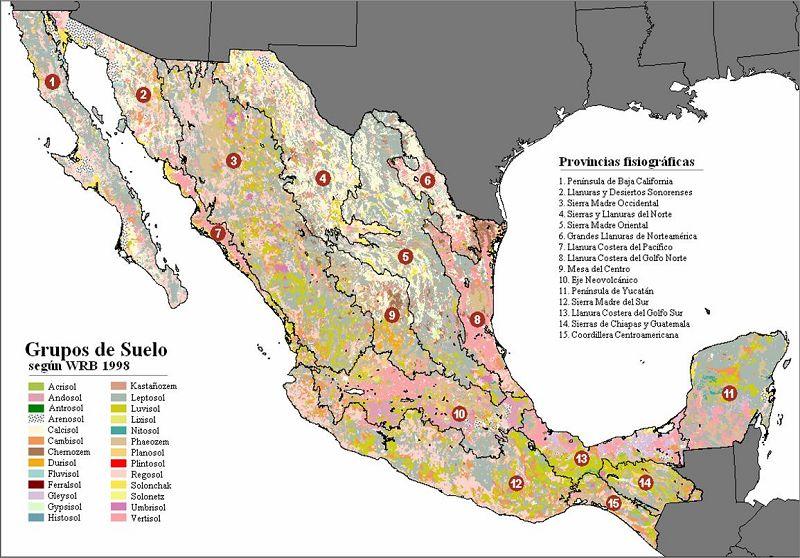 Mapa de México con Nombres, Capitales y Estados   Información imágenes