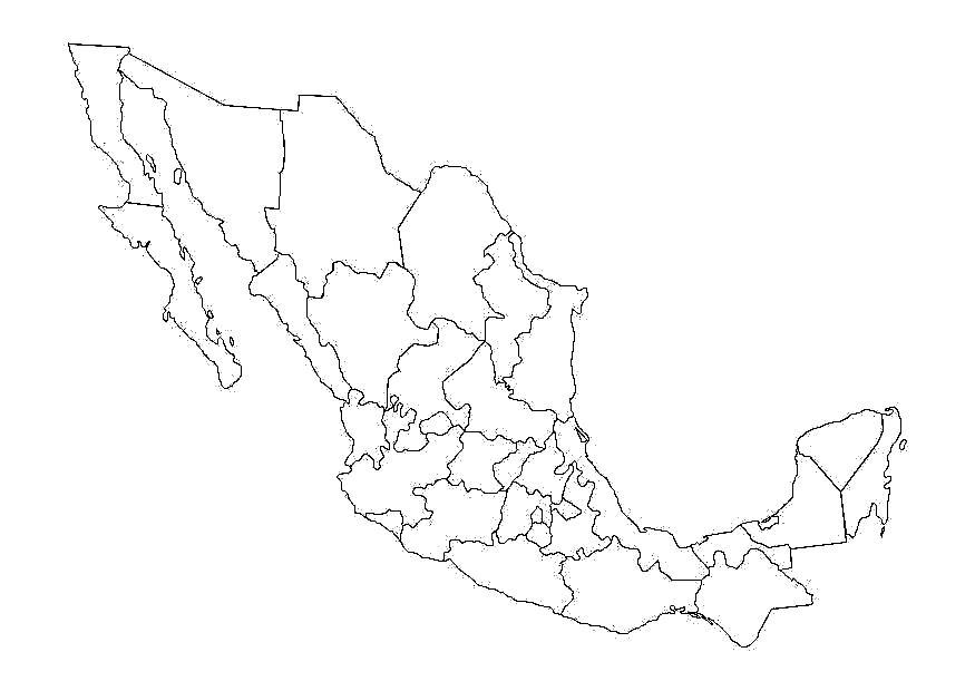 Mapa de México con Nombres, Capitales y Estados | Información imágenes