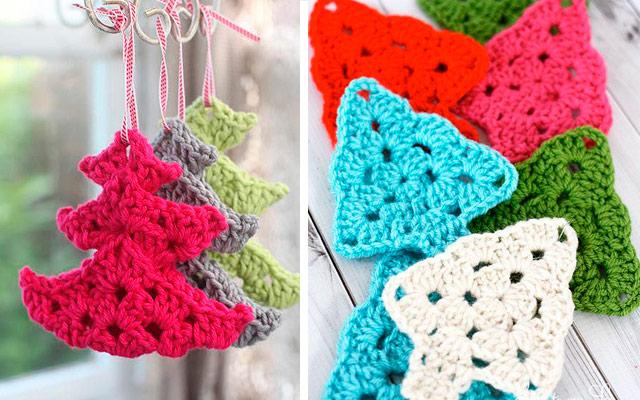 adornos de navidad de ganchillo Adornos De Navidad Tejidos A Crochet