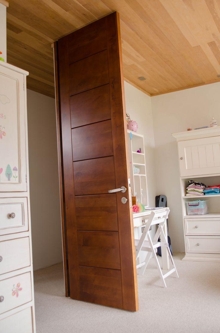 175 puertas de madera para tu casa que te encantar n Puertas de madera interiores minimalistas
