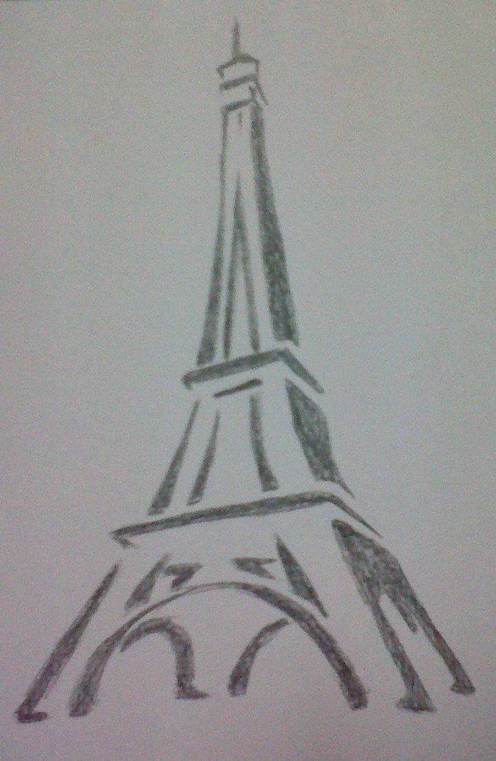 Dibujo A Lápiz Facil Torre Eiffel Información Imágenes