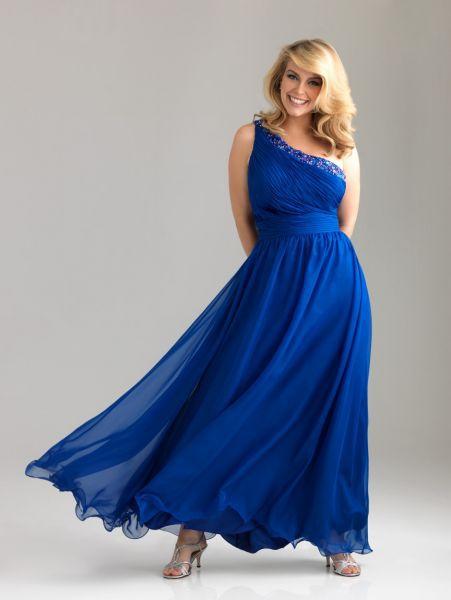 Vestidos de noche para gorditas azul marino