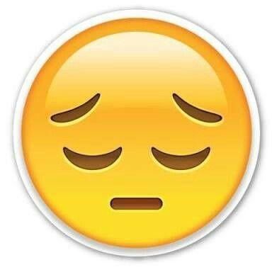 Resultado de imagen de emoticono cara triste