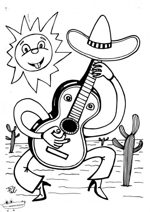 Guitarra Mexicana 5 De Mayo Para Colorear1 515728