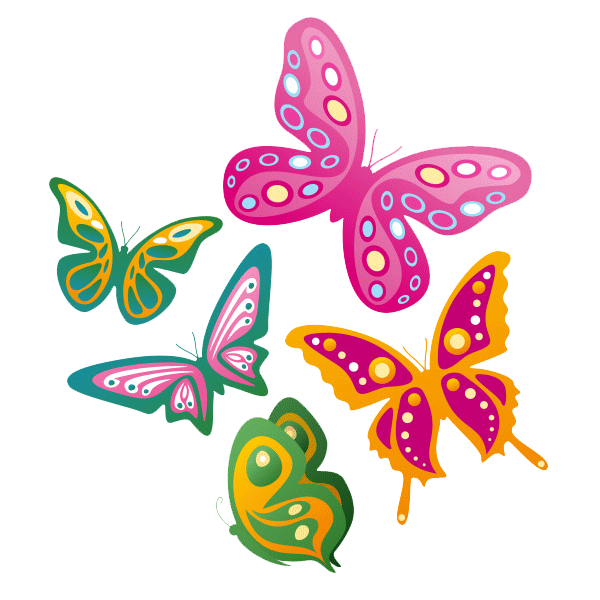 Im genes de mariposas animadas bonitas de colores con - Imagenes de mariposas de colores ...