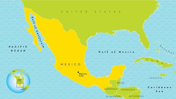 Mapa de la República Mexicana con nombres   Información ...