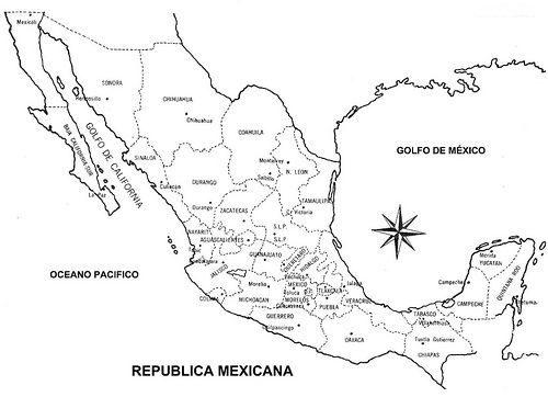 Mapa De La República Mexicana Con Nombres Información Imágenes