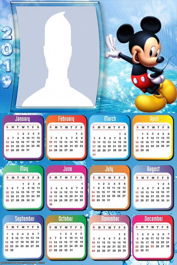 Calendario Dibujo 2019.Calendarios 2019 Para Ninos Para Descargar E Imprimir