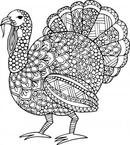 difficult turkey coloring pages - photo#6