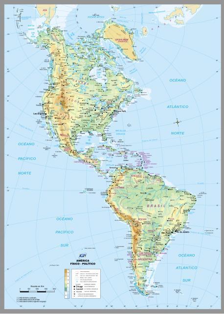 Mapa De América Con Nombres 50 Imágenes Información