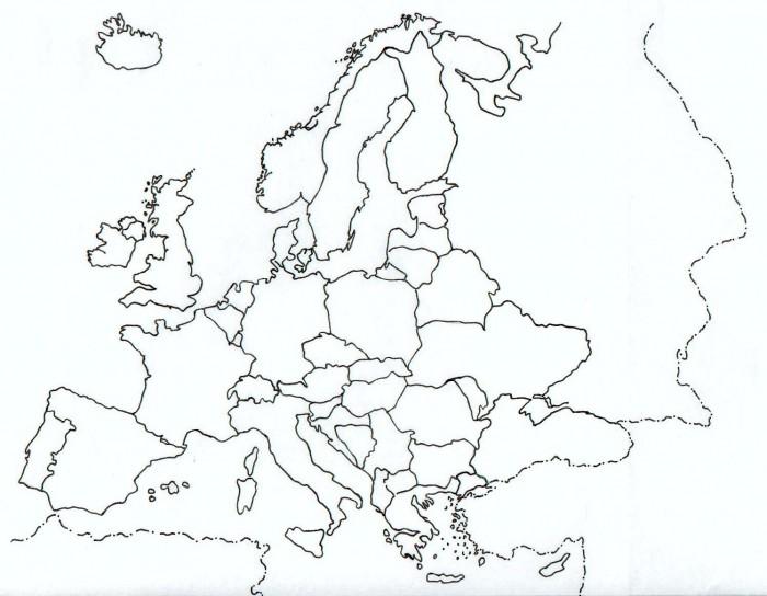 Mapa De Europa Con Nombres Y División Politica Para Imprimir