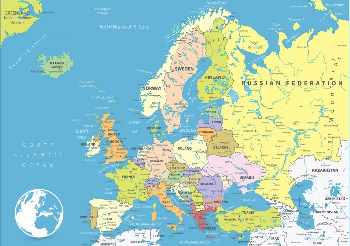 Mapa Politico De Europa Para Imprimir.Mapa De Europa Con Nombres Y Division Politica Para Imprimir