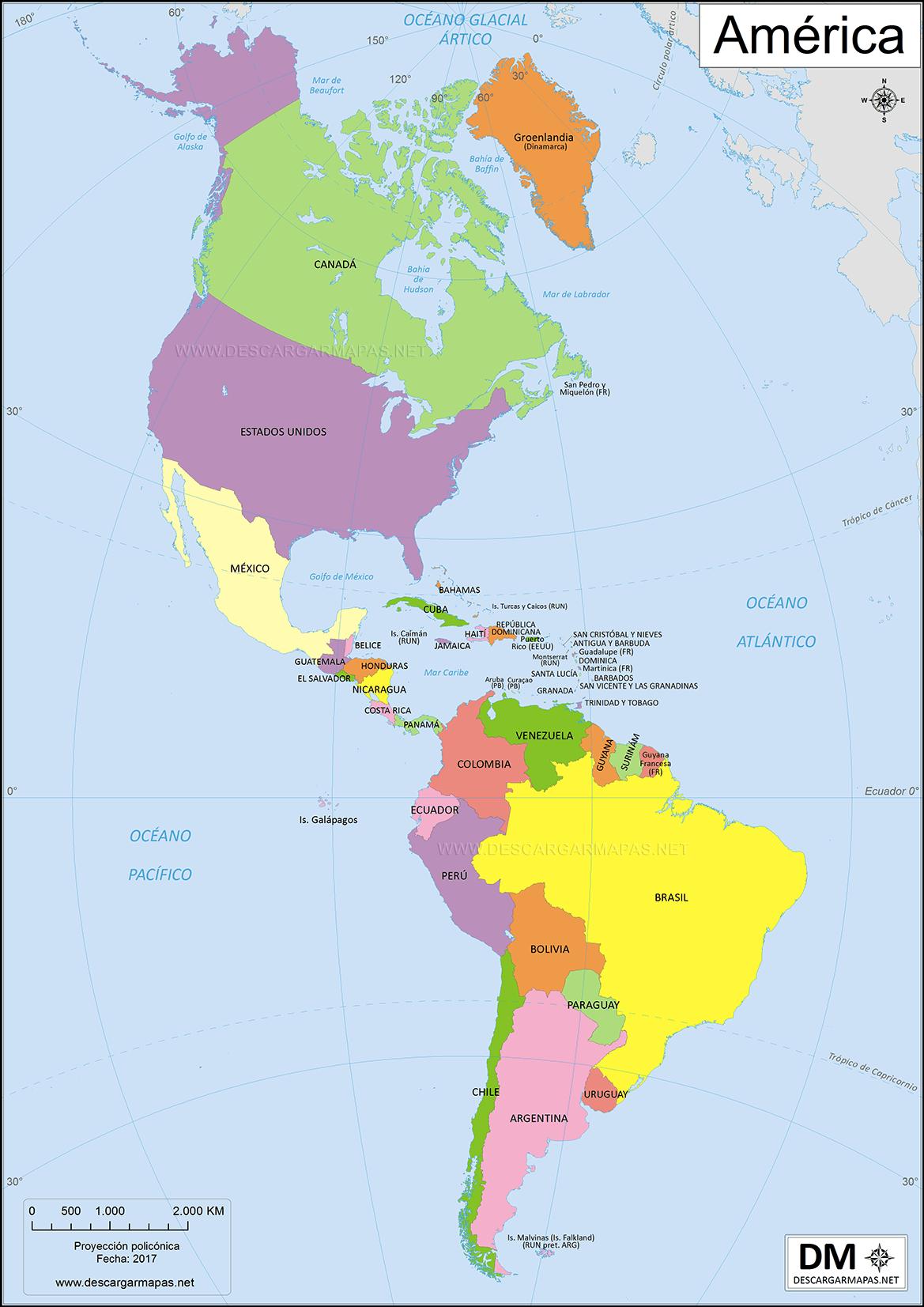 Mapa America Politico Mudo.Mapa De America Con Nombres 50 Imagenes Informacion