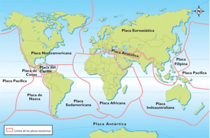 Mapa De Las Placas Tectónicas Qué Son Movimiento Tipos Y