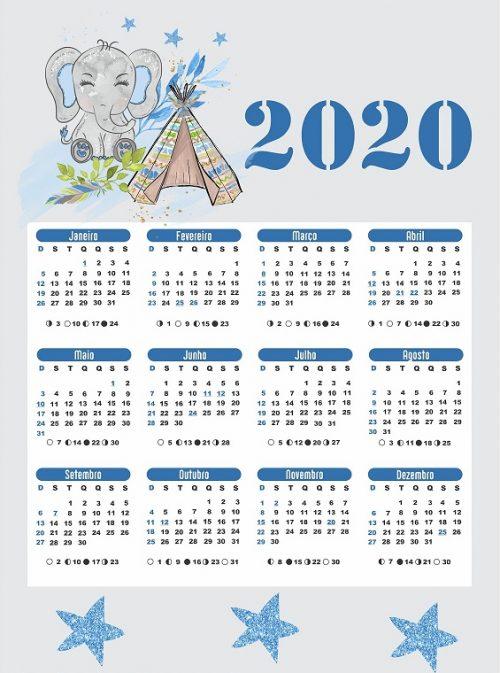 calendarios 2020 para ni u00f1os  para descargar e imprimir